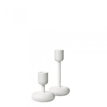 Iittala-Nappula-Kerzenstnder-wei-Hhe-107-u-183-mm-Set-2-0