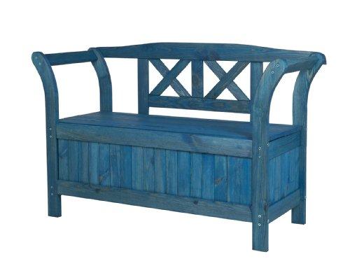 impag gartenbank truhenbank mit kreuzlehne inkl stauraum. Black Bedroom Furniture Sets. Home Design Ideas