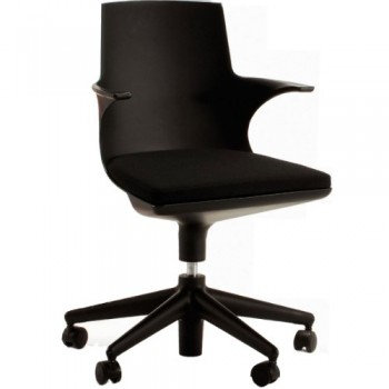Kartell-481909-Stuhl-Spoon-Chair-schwarz-schwarz-0