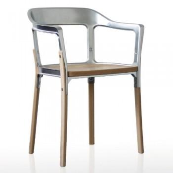 Magis-Steelwood-Stuhl-verzinktes-Stahlblech-lackiert-Beine-und-Sitzflche-aus-Buche-natur-0