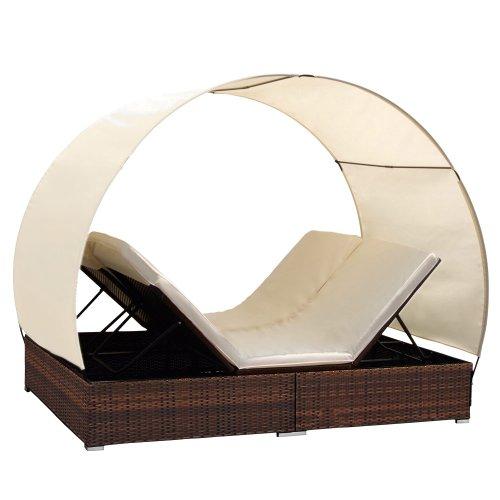poly rattan lounge sonneninsel wohlf hllandschaft. Black Bedroom Furniture Sets. Home Design Ideas