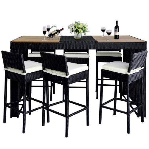 outsunny polyrattan gartenm bel 13 tlg rattan gartenset bar sitzgruppe barhocker set garnitur. Black Bedroom Furniture Sets. Home Design Ideas