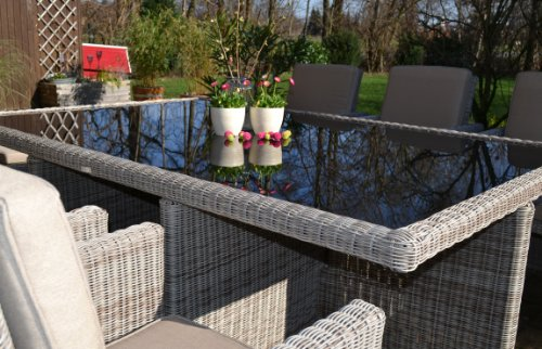 polyrattan rattan geflecht garten sitzgruppe toscana xl in sand grau natur rundgeflecht 3mm. Black Bedroom Furniture Sets. Home Design Ideas