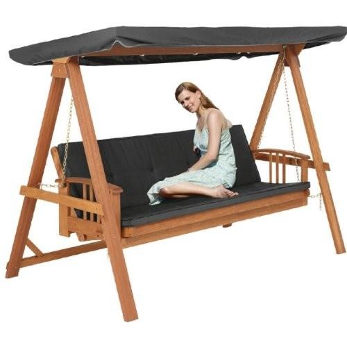 rl3051 hollywoodschaukel schaukel liege bank relax mit polster und dachhimmel anthrazit. Black Bedroom Furniture Sets. Home Design Ideas