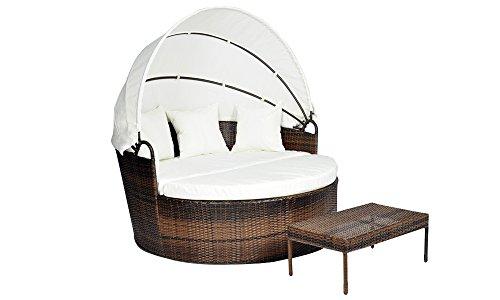 rattan sonneninsel lounge bett liege strandkorb relaxinsel. Black Bedroom Furniture Sets. Home Design Ideas