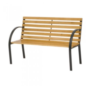 Siena-Garden-104874-Parkbank-Menorca-Gestell-schwarz-pulverbeschichtet-Belattung-Hartholz-L-122-x-B-62-x-H-80-cm-0