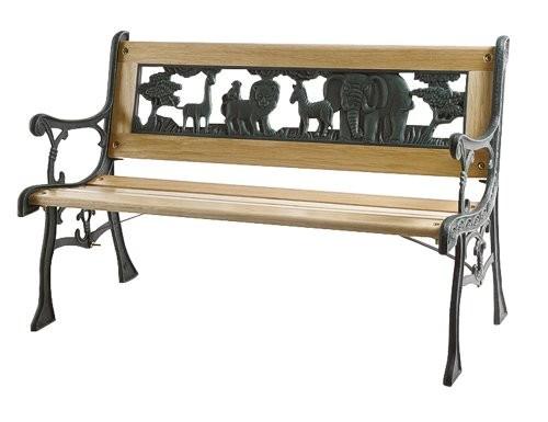 Siena-Garden-598843-Kinder-Gussbank-mit-Zoo-Ornament-im-Rcken-B-82-x-H-41-cm-0