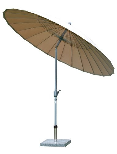 Siena-Garden-599281-Sunshine-Schirm-Bezug-ecru-Gestell-silber--270-cm-0