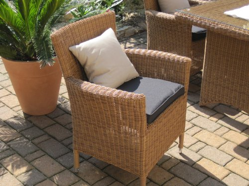 sitzgruppe garten garnitur tisch und 6 sessel st hle rattan polyrattan geflecht gartenm bel. Black Bedroom Furniture Sets. Home Design Ideas