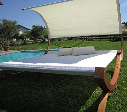 xxl sonnenliege doppelliege gartenliege h ngematte doppel liege gartenm bel extrabreit f r 2. Black Bedroom Furniture Sets. Home Design Ideas
