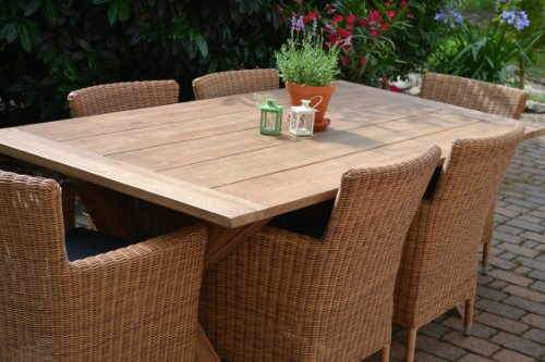 teak sitzgruppe java x garten garnitur tisch 200x100 und. Black Bedroom Furniture Sets. Home Design Ideas