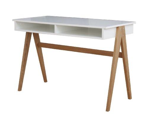 tenzo 2020 454 strada designer schreibtisch untergestell eiche massiv 75 x 110 x 55 cm wei. Black Bedroom Furniture Sets. Home Design Ideas