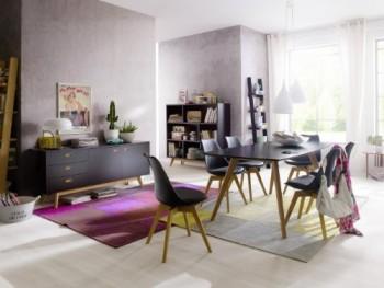 Tenzo-2180-024-Bess-Designer-Esstisch-schwarz-Tischplatte-MDF-lackiert-matt-Untergestell-Eiche-massiv-75-x-185-x-95-cm-HxBxT-0-0