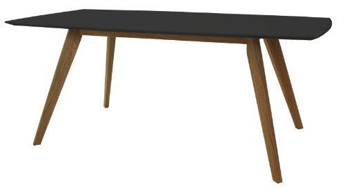Tenzo-2180-024-Bess-Designer-Esstisch-schwarz-Tischplatte-MDF-lackiert-matt-Untergestell-Eiche-massiv-75-x-185-x-95-cm-HxBxT-0