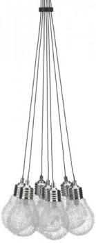 Trio-Leuchten-313610707-Pendelleuchte-in-Nickel-matt-Glas-klar-umhllt-von-Aluminiumgeflecht-0