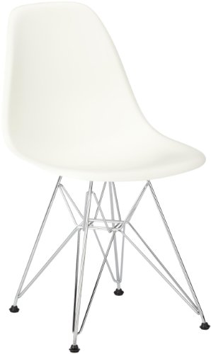 vitra 440022000104 stuhl dsr eames plastic sidechair gestell verchromt wei online kaufen bei. Black Bedroom Furniture Sets. Home Design Ideas