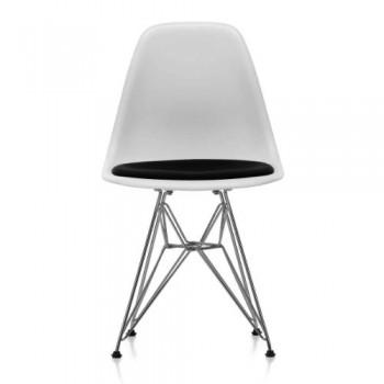 Vitra-44017200036600-Eames-Plastic-Side-chair-DSR-verchromt-wei-04-mit-Sitzpolster-Hopsak-nero-66-810-x-465-x-550-mm-0
