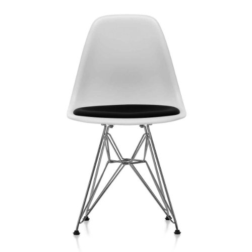 vitra 44017200036600 eames plastic side chair dsr verchromt wei 04 mit sitzpolster hopsak nero. Black Bedroom Furniture Sets. Home Design Ideas