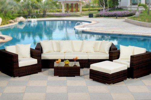 essella polyrattan garnitur key west in bicolor braun mit extra starkem 14mm geflecht 0. Black Bedroom Furniture Sets. Home Design Ideas