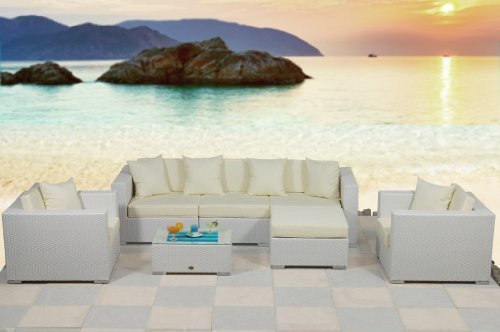 essella polyrattan garnitur key west in wei mit extra starkem 14mm geflecht 0. Black Bedroom Furniture Sets. Home Design Ideas