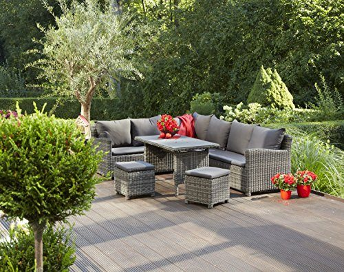 Greemotion lounge set miami mehrfarbig 208x88x77cm for Garten lounge klein
