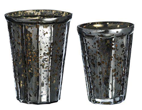 2er-Set-Madam-Stoltz-TeelichthalterWindlicht-antik-braun-1x-klein-95x75cm-1x-gro-105x10cm-0