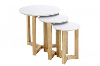 AC-Design-Furniture-0000046625-Satztisch-Jennie-Tischplatte-aus-Holz-lackiert-wei-Gestell-aus-Massivholz-Eiche-Durchmesser-50-Hhe-50-cm-0