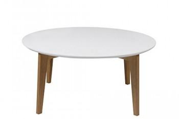 AC-Design-Furniture-0000049337-Couchtish-Ricky-Durchmesser-90-Hhe-42-cm-Tischplatte-aus-Holz-lackiert-wei-Gestell-aus-Massivholz-Eiche-unbehandelt-0