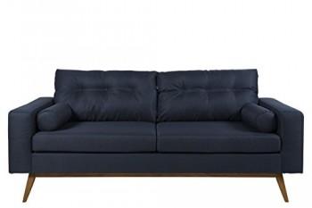 AC-Design-Furniture-0000054693-Leo-Sofa-25-sitzig-Nackenrollen-2-Stck-Holzbein-Eiche-lbehandelt-88-x-202-x-88-cm-Corsica-Stoff-dunkel-blau-50-0