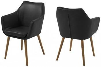 AC-Design-Furniture-0000056835-Armstuhl-Trine-58-x-58-x-84-cm-Sitz-Rcken-lederlook-vintage-cognac-Gestell-Holz-Eiche-lbehandelt-0
