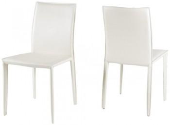 AC-Design-Furniture-42338-Esszimmerstuhl-2-er-Set-Emma-100-regeneriertes-Leder-wei-0