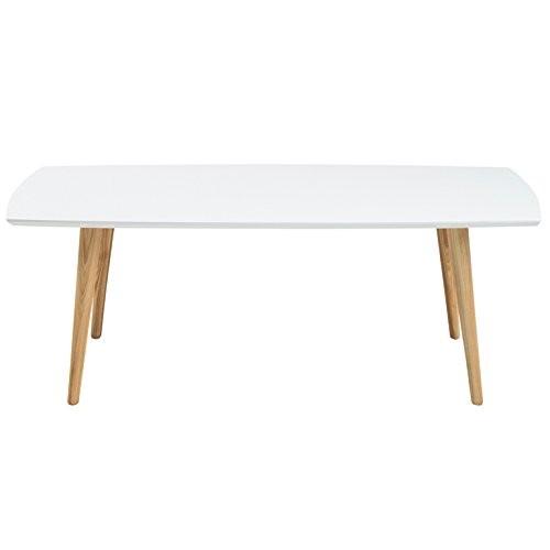 Tischplatte weiß hochglanz  AC Design Furniture Couchtisch aus Holz Tischplatte weiß Hochglanz ...