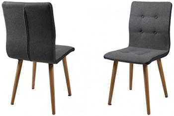 AC-Design-Furniture-H000014095-Esszimmerstuhl-2-er-Set-Charlotte-SitzRcken-Stoff-Seiten-dunkelgrau-knpfen-hellgrau-0