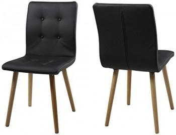 AC-Design-Furniture-H000014145-Esszimmerstuhl-2-er-Set-Charlotte-SitzLederlook-Gestell-aus-Massivholz-Eiche-schwarz-0