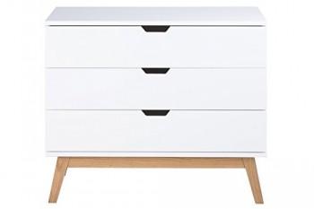 AC-Design-Furniture-H000014403-Kommode-Dorte-77-x-90-x-48-cm-3-Schubladen-Holz-lackiert-wei-matt-0