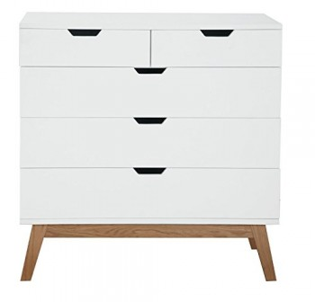 AC-Design-Furniture-H000014405-Kommode-Dorte-90-x-90-x-48-cm-3--2-Schubladen-Holz-lackiert-wei-matt-0