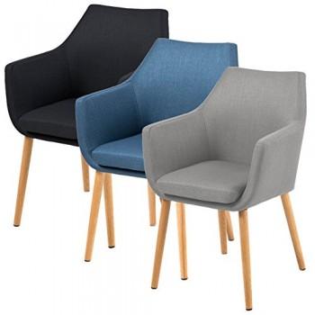AC-Design-Furniture-Polsterstuhl-aus-Stoff-mit-Armlehnen-Beine-Eiche-Lore-hellgrau-0