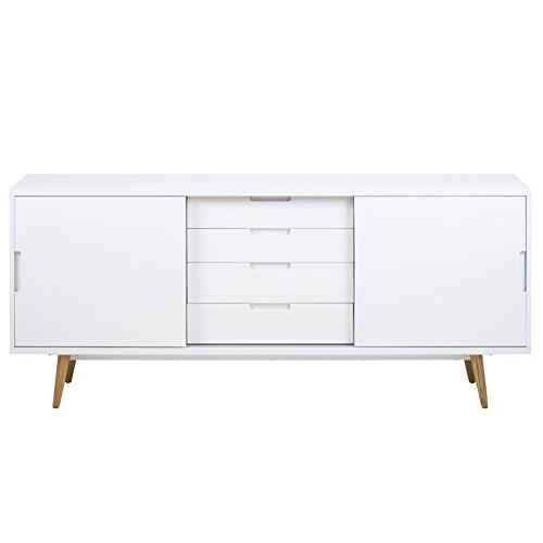 AC-Design-Furniture-Sideboard-wei-Hochglanz-mit-2-Schiebetren-und-4-Schubladen-Romin-0