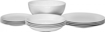 Alessi-All-Time-Geschirrrset-4-Speiseteller-4-Suppenteller-4-Dessertteller-1-Salatschssel-aus-Bone-China-0