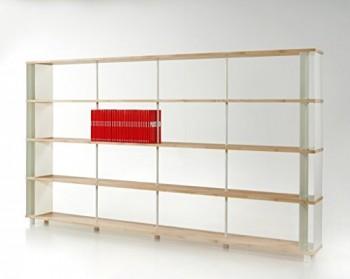 Bcherregal-SKAFFALEGNO-MASSIVHOLZ-kombinierbare-Regal-Wand-Design-Einlegebden-Made-in-ITALY-cm-H-171-X-150-0