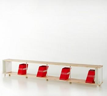Bcherregal-SKAFFALEGNO-MASSIVHOLZ-kombinierbare-Regal-Wand-Design-Einlegebden-Made-in-ITALY-cm-H-49-X-150-0