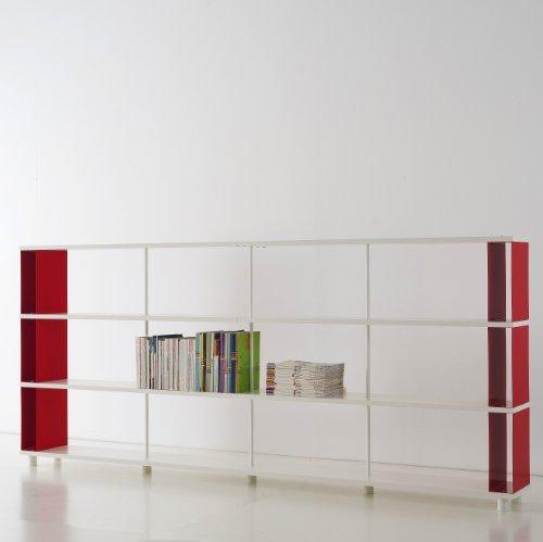 b cherregale skaffa italienische design weisse regale von cm 300 x 130 h x 30 online kaufen bei. Black Bedroom Furniture Sets. Home Design Ideas