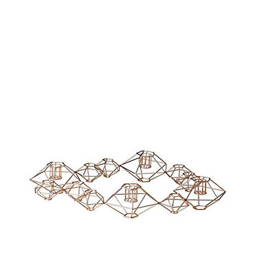 Bloomingville-Pernille-Kerzenstnder-Metal-kupfer-46x37xh7cm-0
