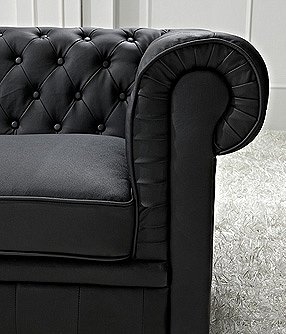 chesterfield sofa schwarz ledersofa ledercouch online kaufen bei woonio. Black Bedroom Furniture Sets. Home Design Ideas