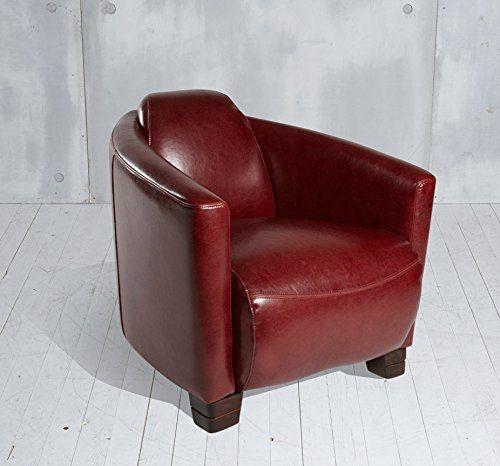 clubsessel cocktailsessel hera bordeaux rot echtleder. Black Bedroom Furniture Sets. Home Design Ideas