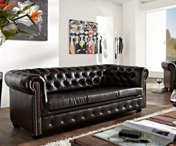 Couch-Chesterfield-Antikbraun-200x90-cm-3-Sitzer-Sofa-abgesteppt-0