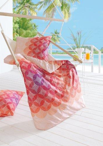 estella mako satin bettw sche lenny koralle 135x200 cm online kaufen bei woonio. Black Bedroom Furniture Sets. Home Design Ideas