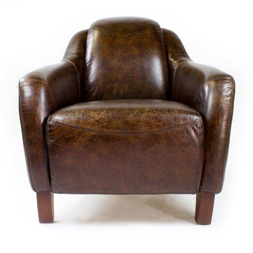 echtleder vintage sessel ledersessel design lounge clubsessel neu 455 online kaufen bei woonio. Black Bedroom Furniture Sets. Home Design Ideas