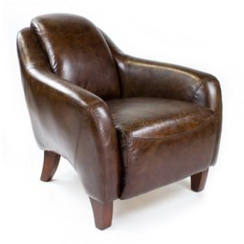 Echtleder-Vintage-Sessel-Ledersessel-Design-Lounge-Clubsessel-NEU-455-0