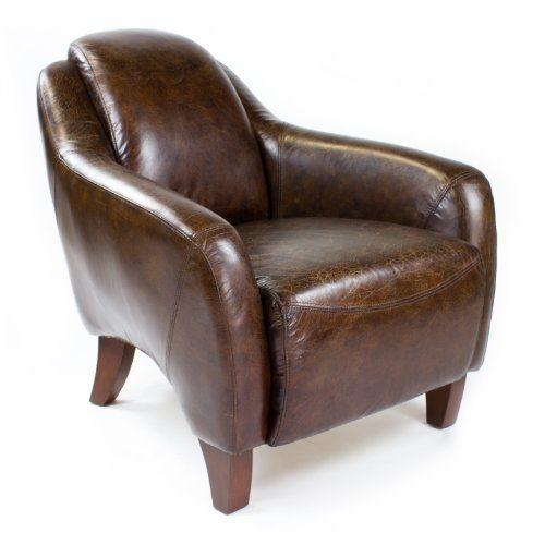 vintage sessel echtleder ledersessel design lounge clubsessel neu kaufen